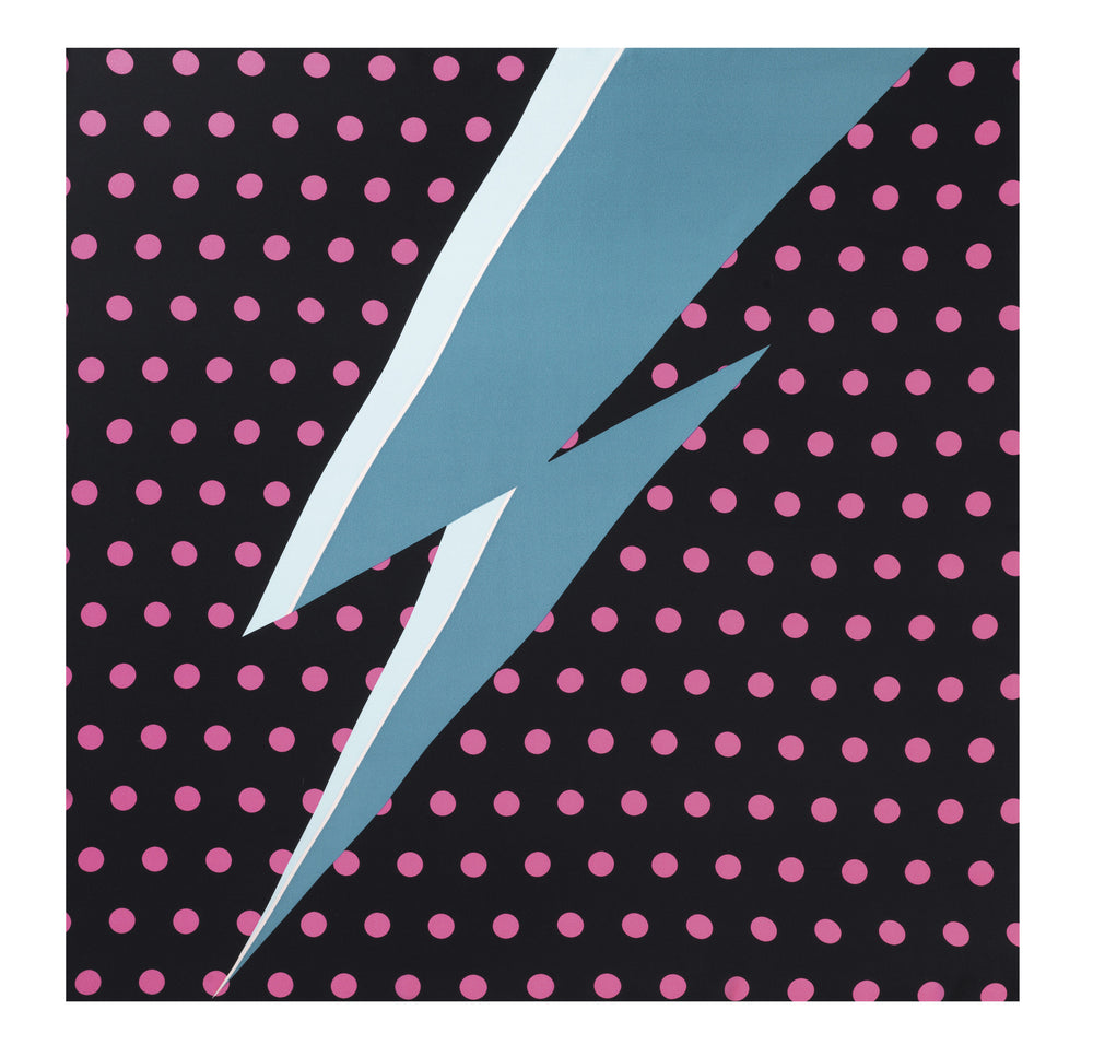 Load image into Gallery viewer, 90-381 Dots lightning Black/Blue