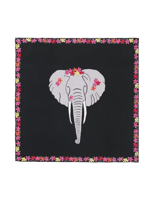 Load image into Gallery viewer, 90-403 Flower elephant Black