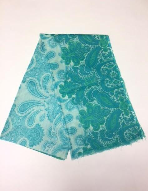 Load image into Gallery viewer, SCS055 Cotton Power paisley Aqua