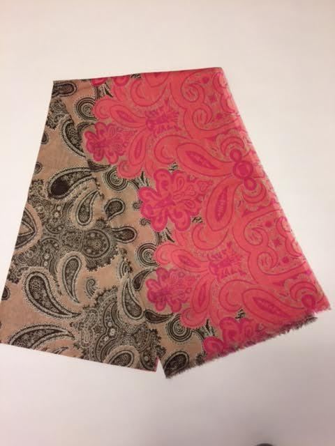SCS055 Cotton Power paisley Pink