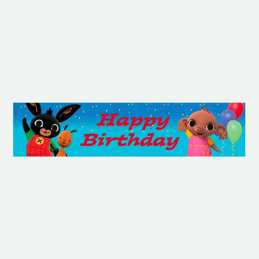 Bing Foil Happy Birthday Banner
