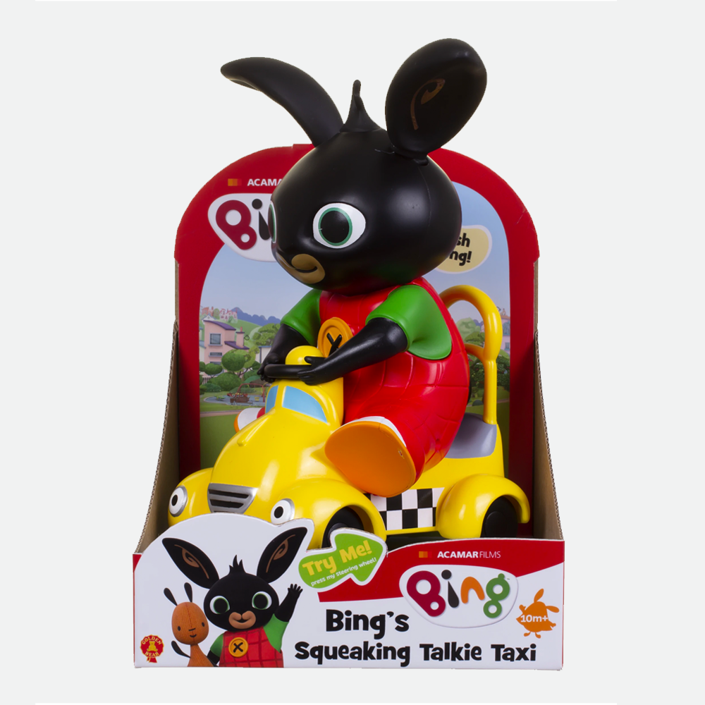 Bing's Squeaking Talkie Taxi Toy
