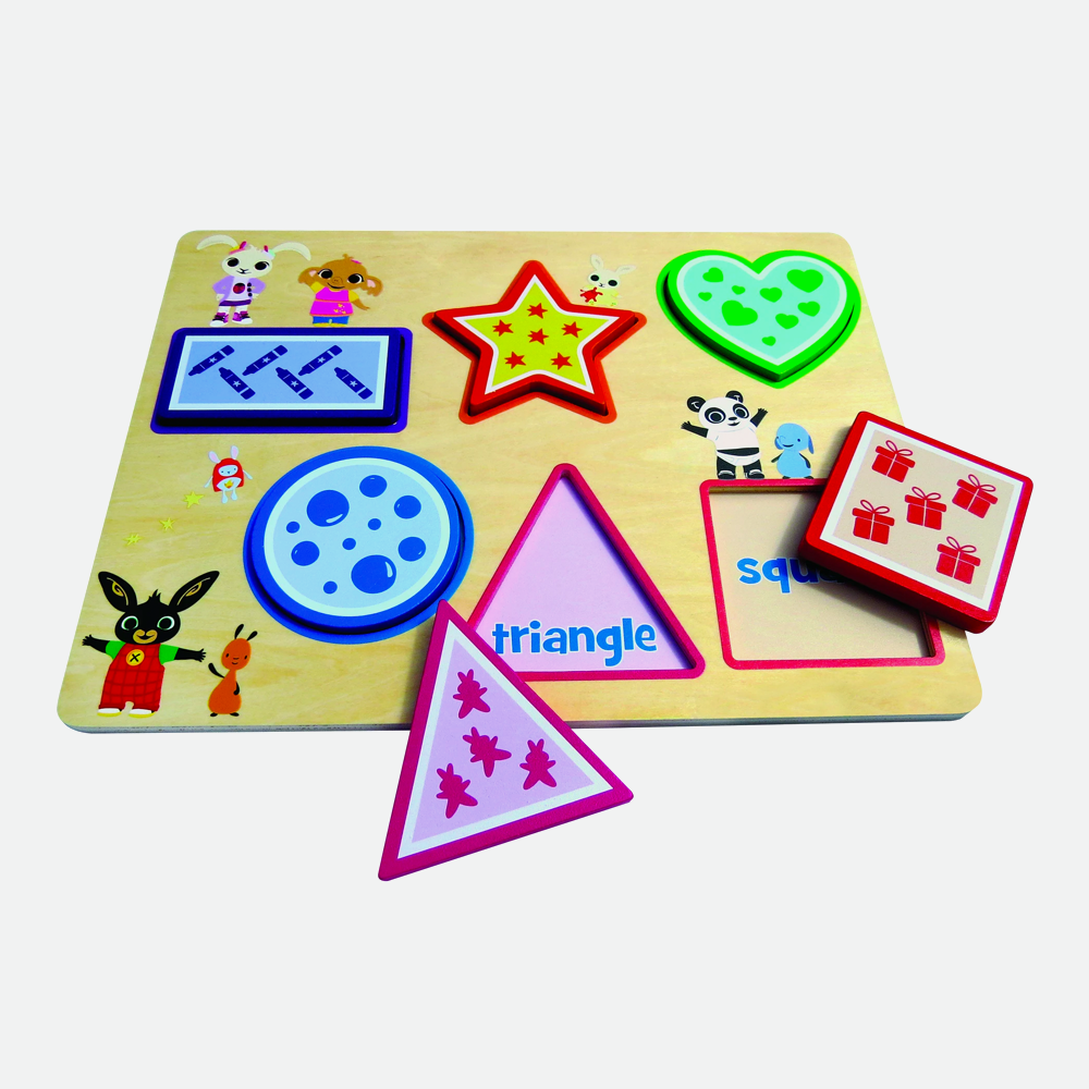 Bing Wooden Shape Sorter Puzzle Game