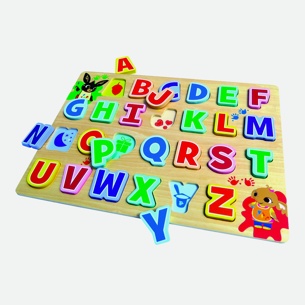 Bing Wooden Alphabet Puzzle Game