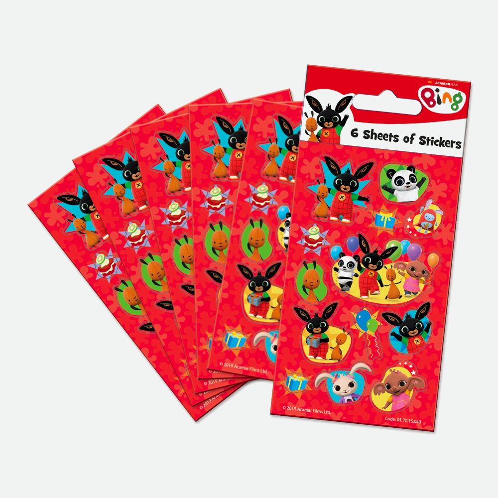 Bing Party Stickers Pack