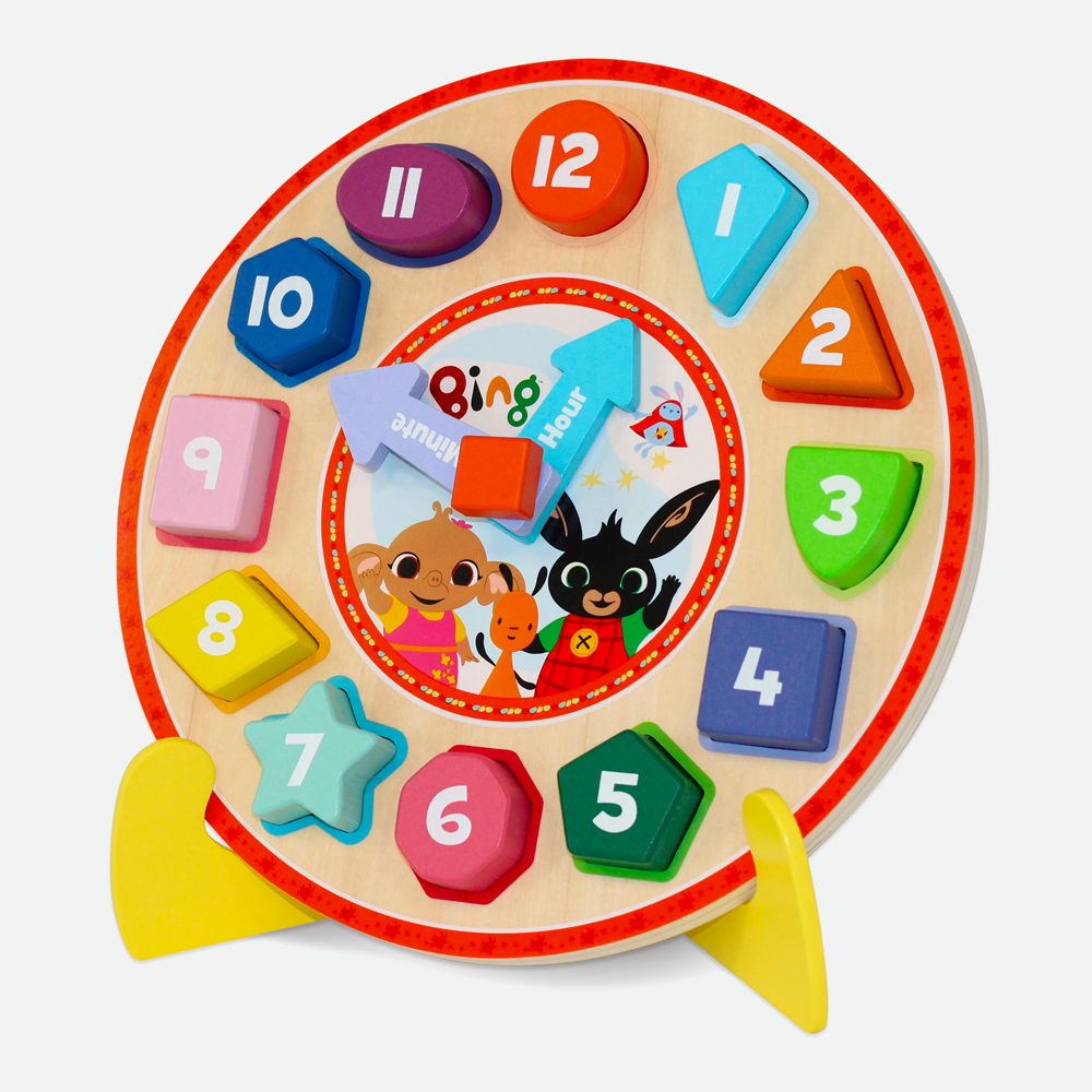 Wooden Puzzle Clock with Stand Game