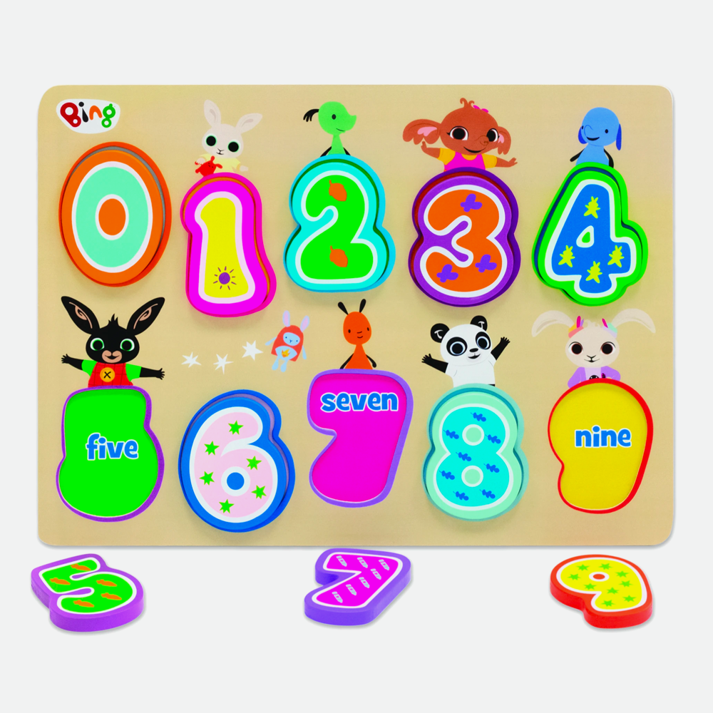 Bing Wooden Number Puzzle Game