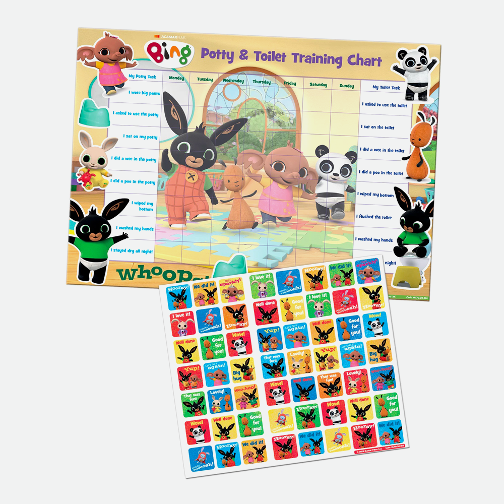 Bing Potty & Toilet Training Chart with Reward Stickers