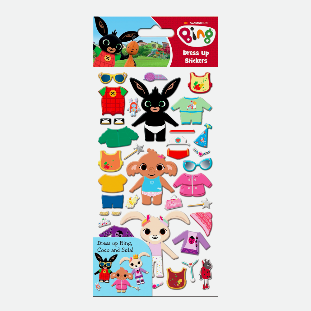 Bing Dress Up Sticker Sheet
