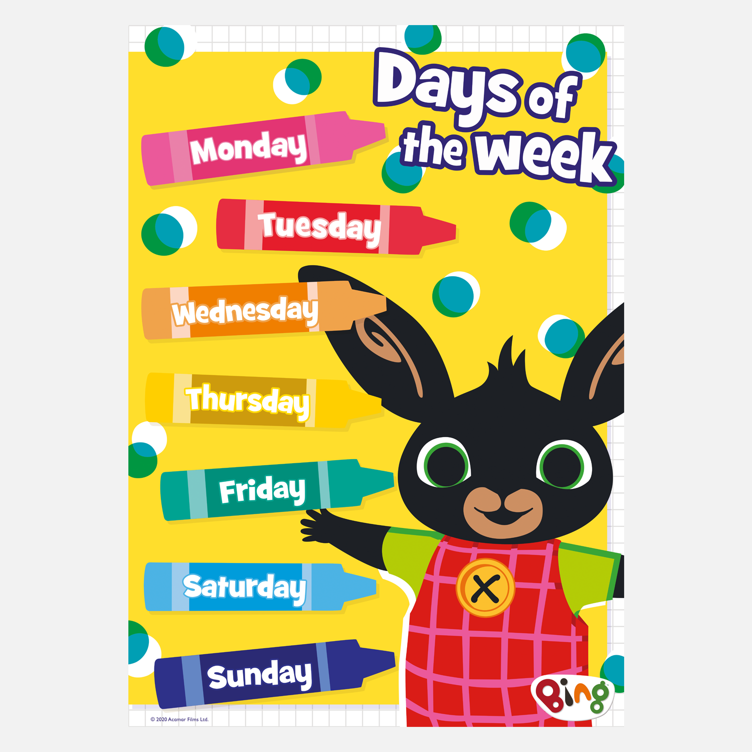 Bing Learning Poster - Days of the Week