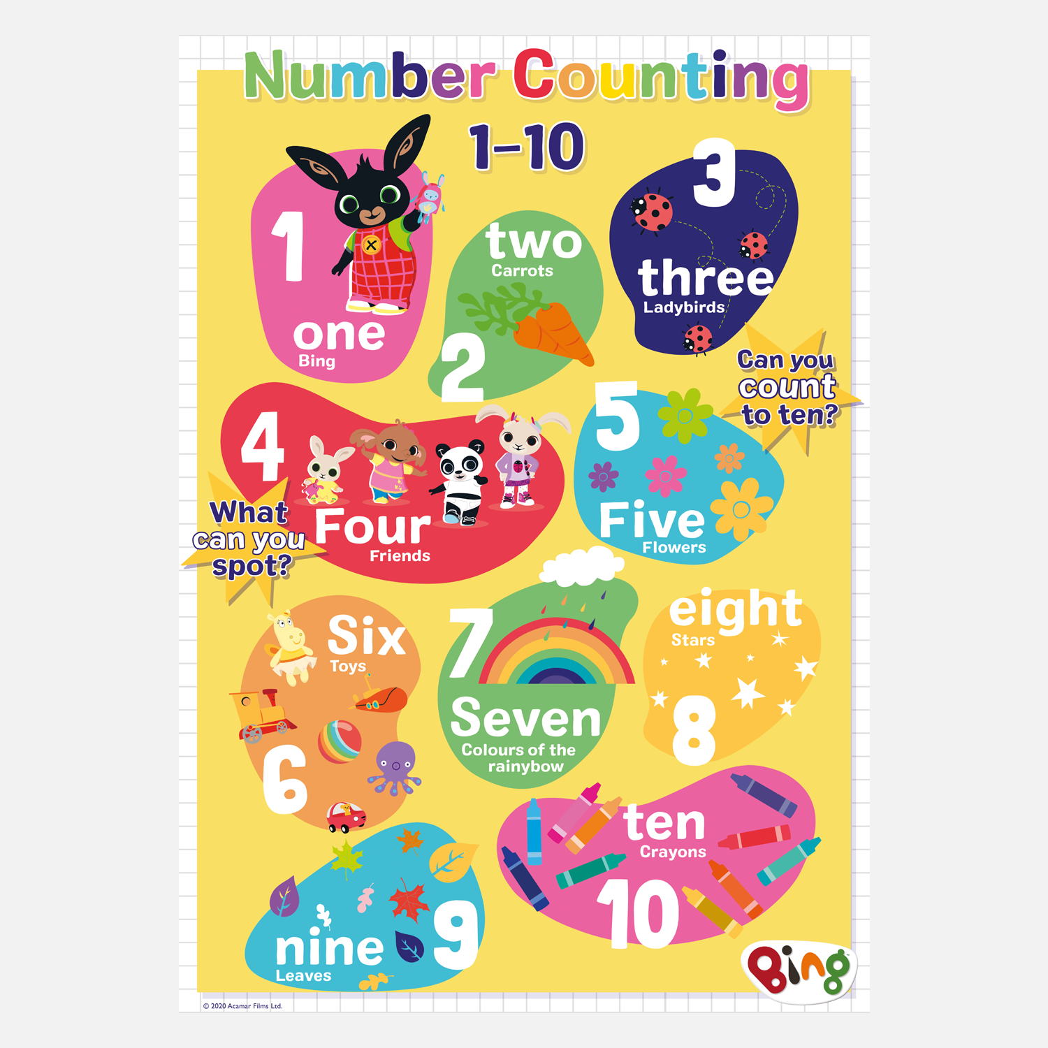 Bing Learning Poster - Number Counting