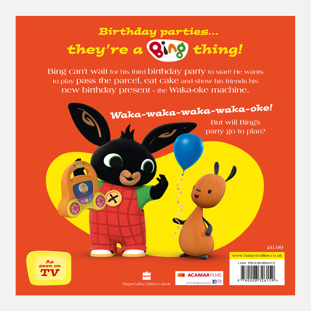 Bing's Birthday Party Book