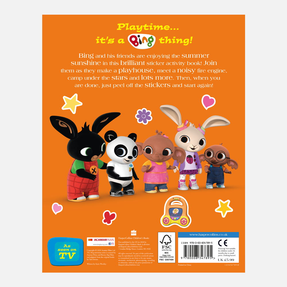 Bing's Playtime Activity Book