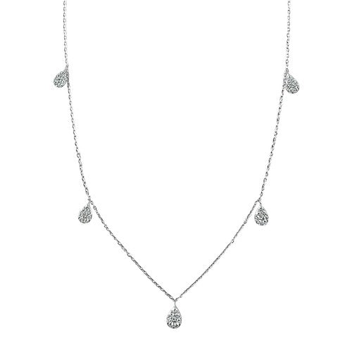 Hey Pretty Diamond Pear Drop Necklace