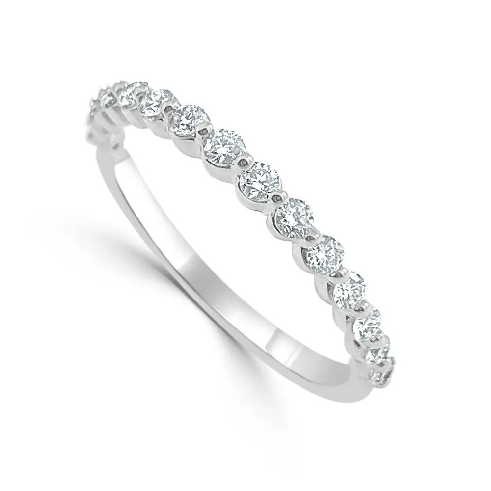 Paige Subtly Scalloped Diamond Band