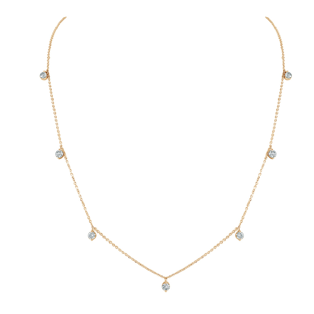 Nora Round Diamond Drop Necklace