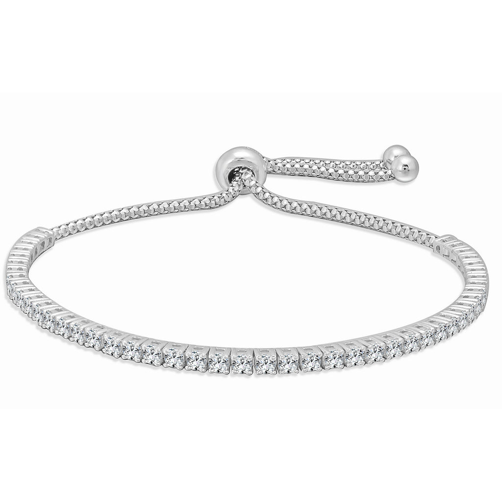 Avery Small Diamond Front Bolo Bracelet