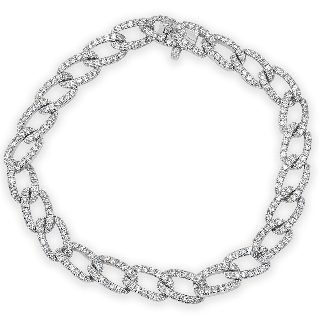 Khloe Paved Diamond Link Bracelet