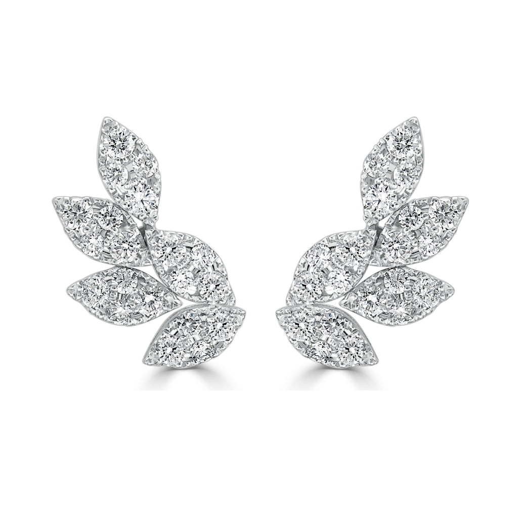 Willow Curved Ivy Diamond Earrings
