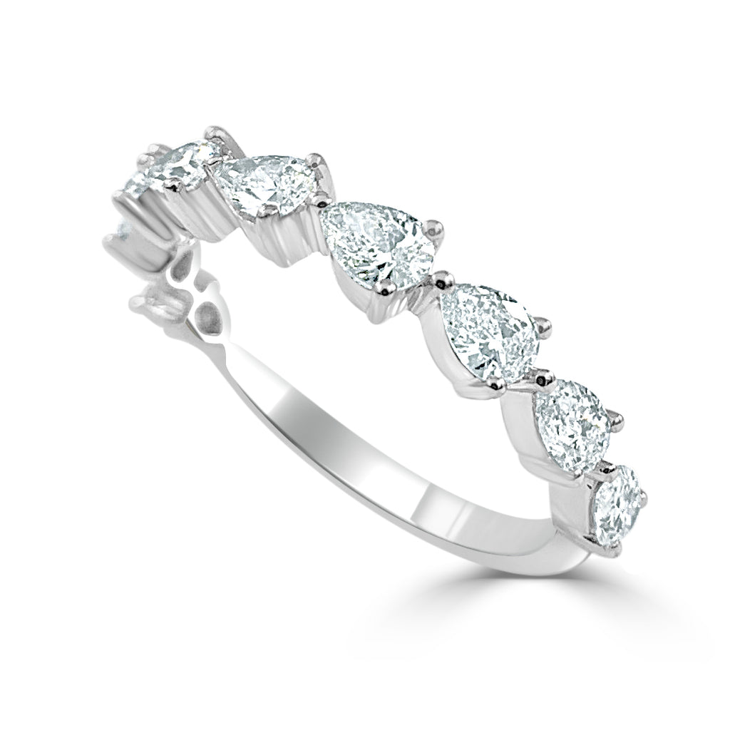 Everette Pear Shaped Diamond Band