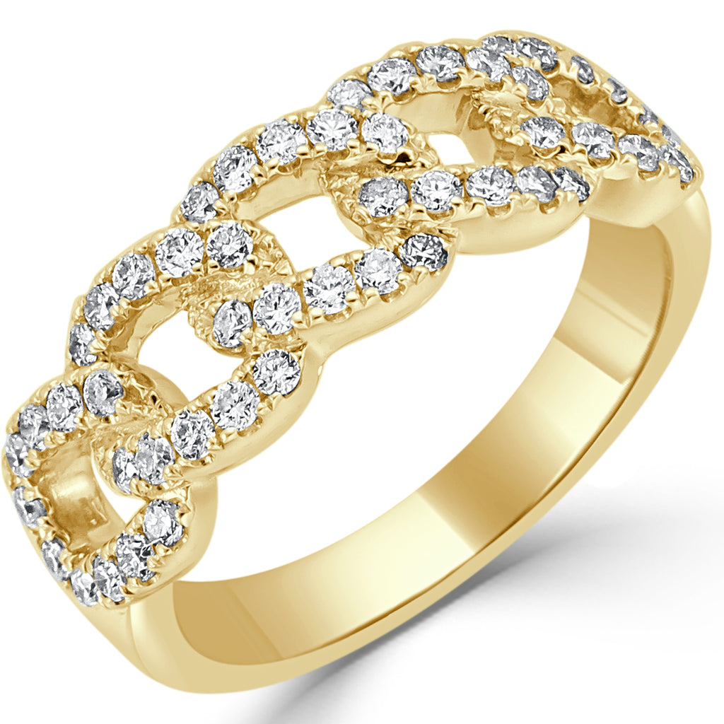 Chelsi Diamond Link Ring Yellow Gold