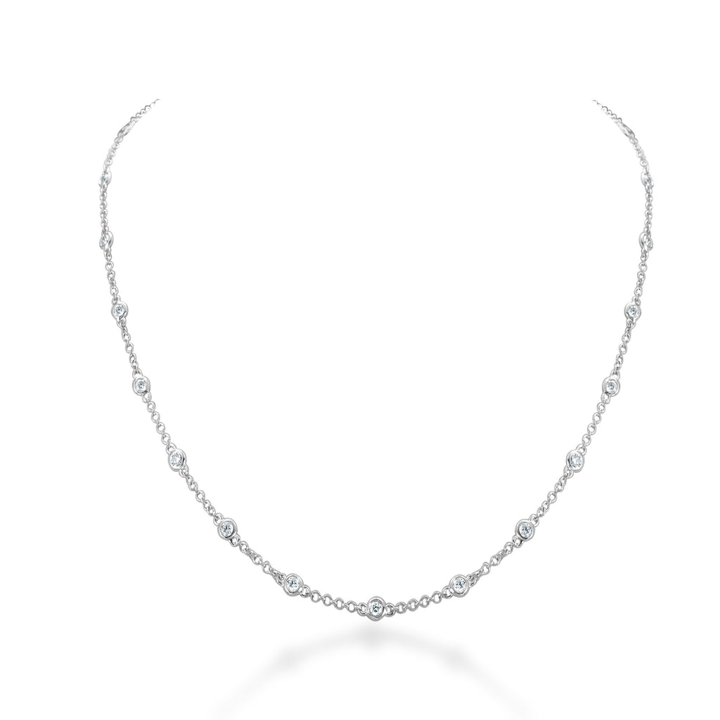Brielle Diamonds By The Yard Necklace White Gold