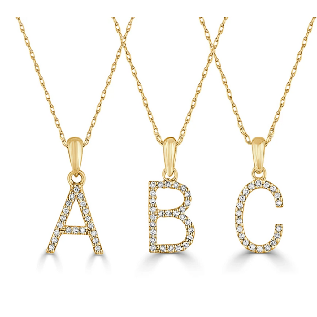 Dainty Diamond Initial Necklace