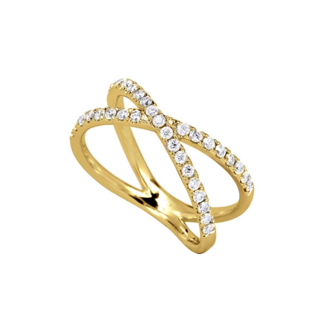 Davina Crossover Diamond Ring