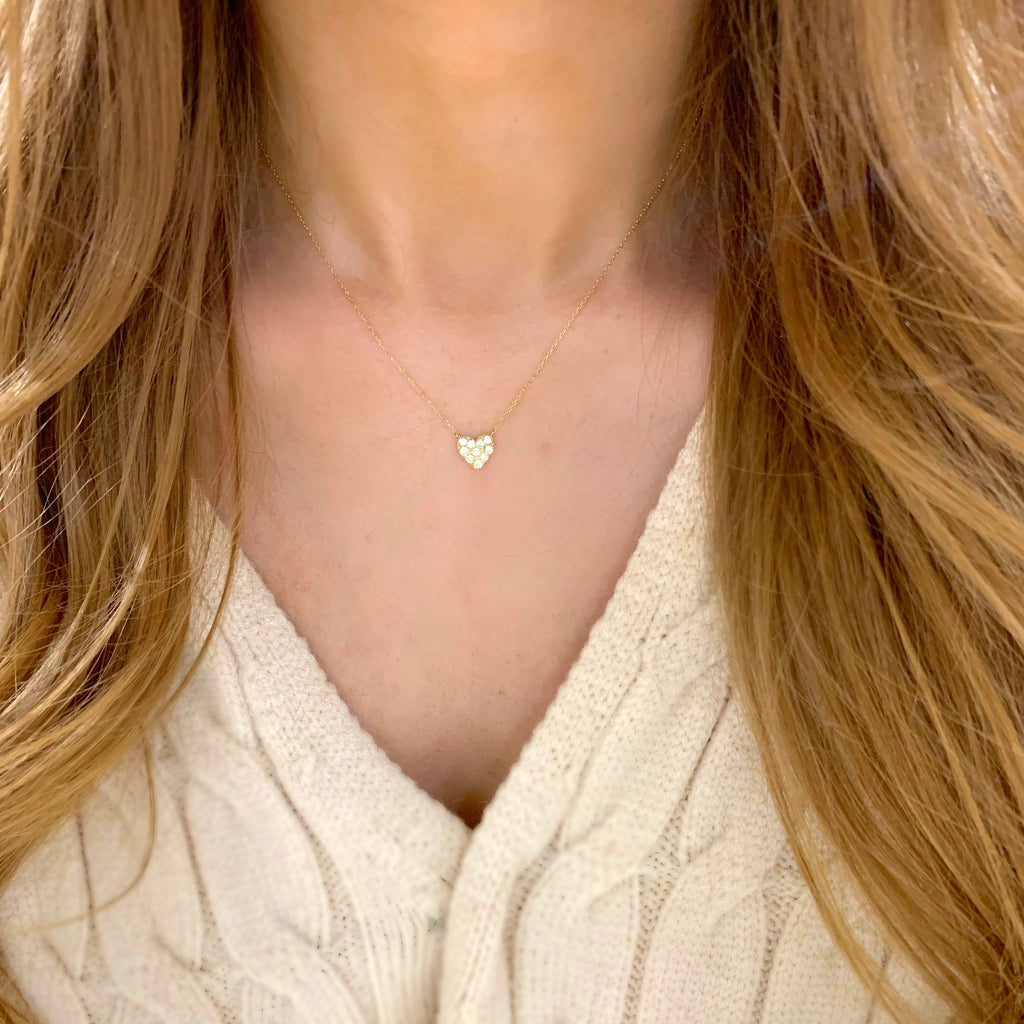 Endless Love Diamond Heart Necklace