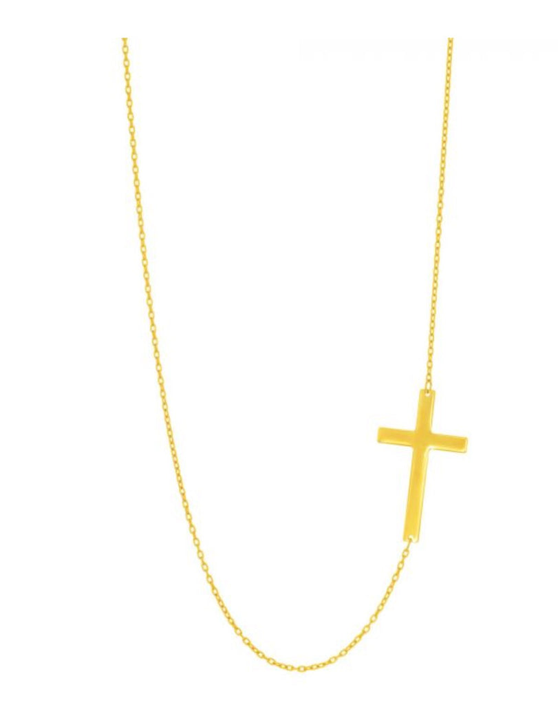 Genesis Sideways Cross Necklace