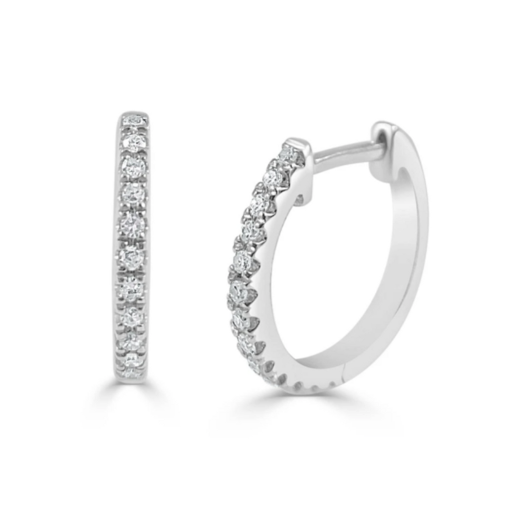 Nikki Diamond Huggie Earrings