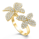 Octavia Pave Diamond Orchid Ring