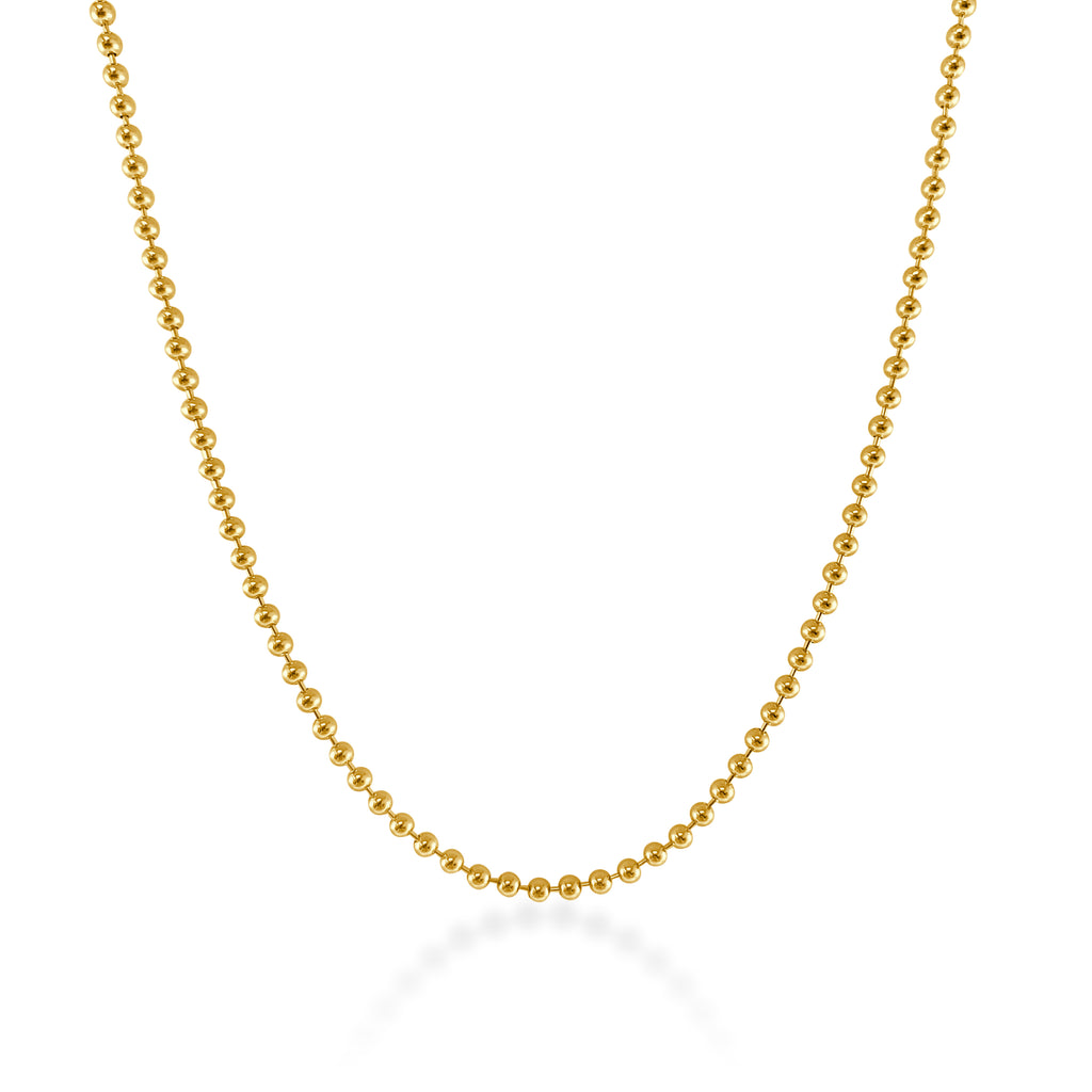 Rowen Beaded Chain Necklace (3mm)