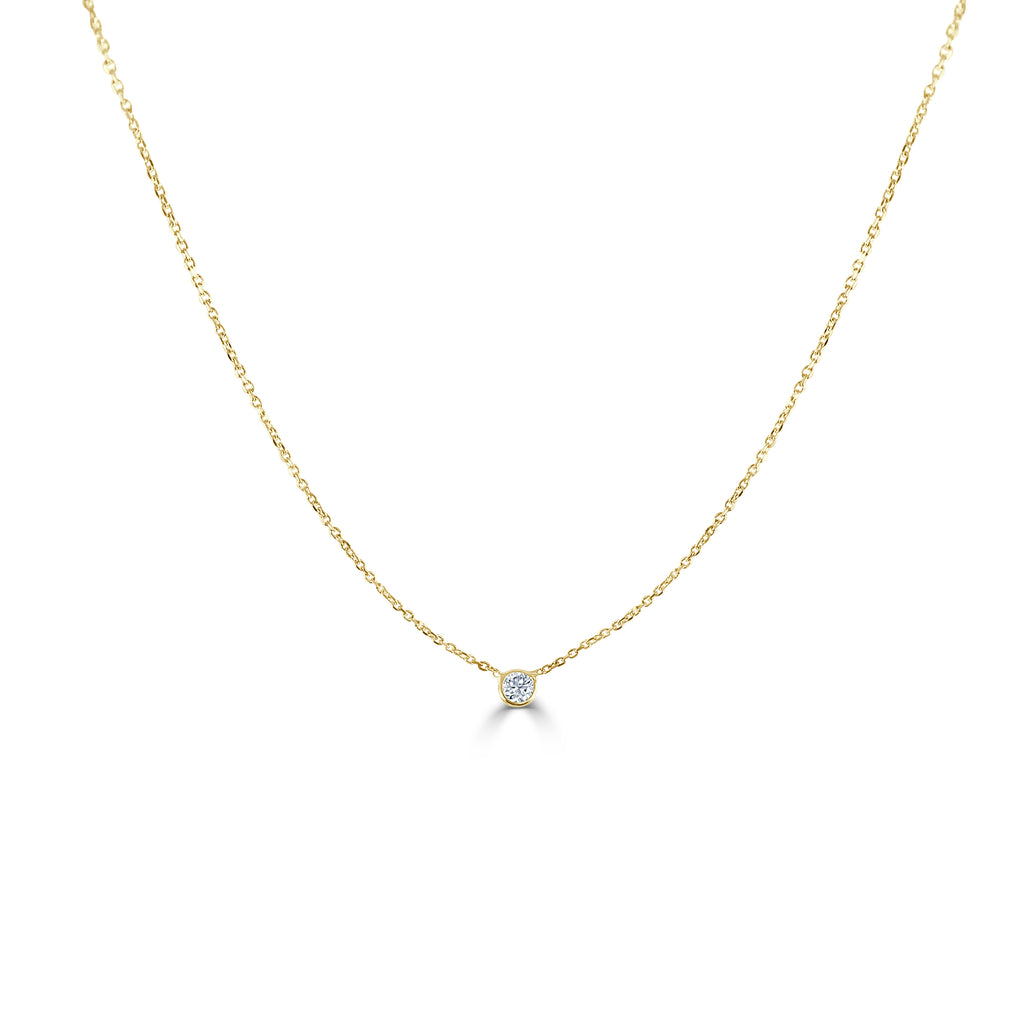 Annabelle Tiny Single Diamond Pendant Necklace