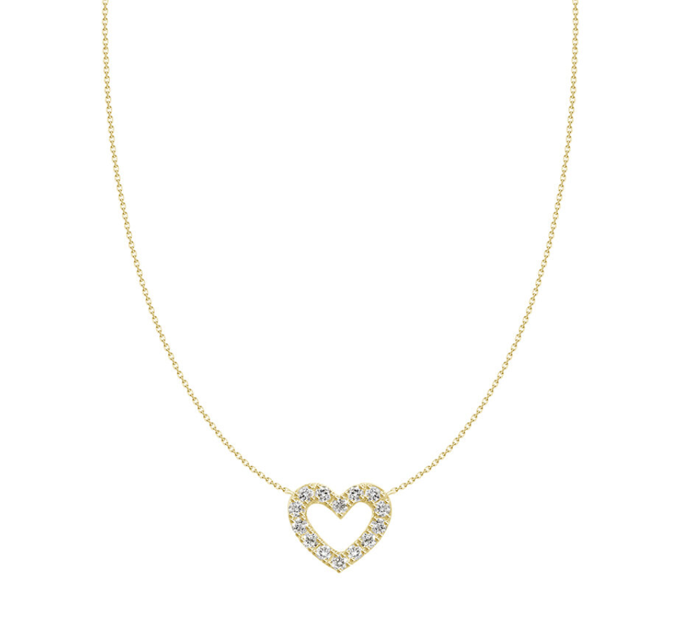 Love Struck Diamond Heart Necklace