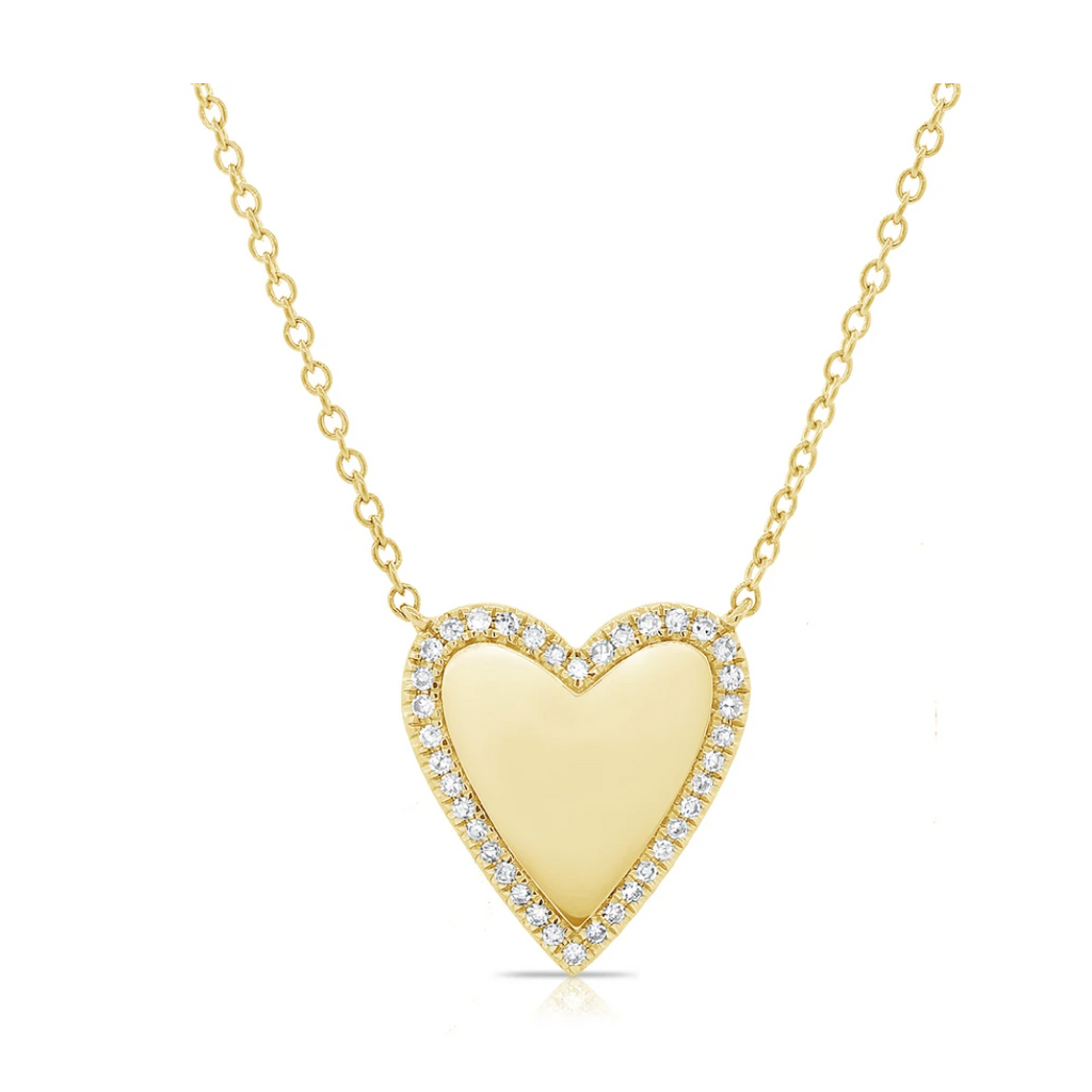 """Heart of Gold"" Diamond Heart Necklace"