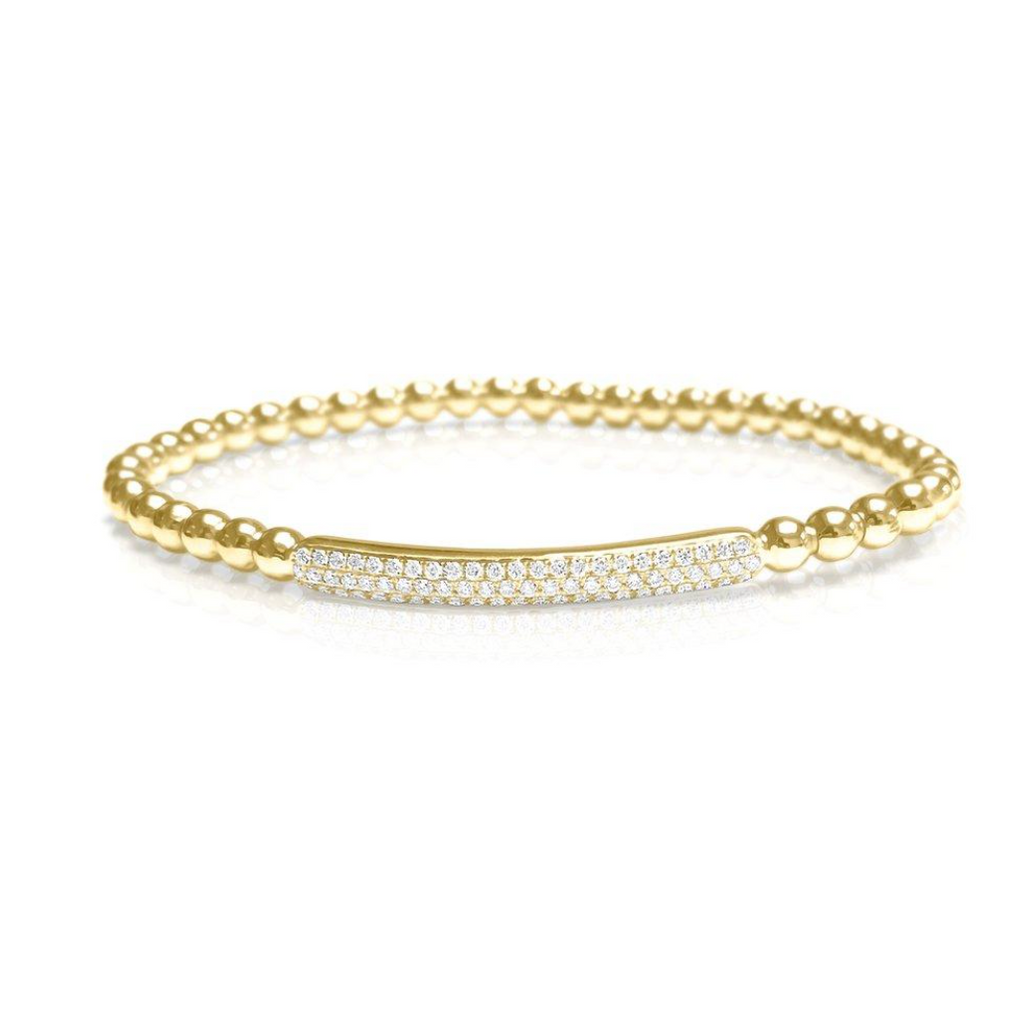 Serena Stretch Diamond Bar Beaded Bracelet