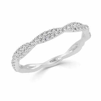 Iris Subtle Twist Diamond Band