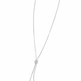 Blakely Adjustable Necklace with Sliding Diamond Rondel