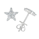 Luna Tiny Diamond Star Stud Earrings