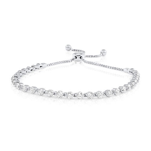 Cora Floating Diamond Bolo Bracelet