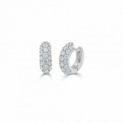 Kennedy Pave Diamond Huggie Earrings