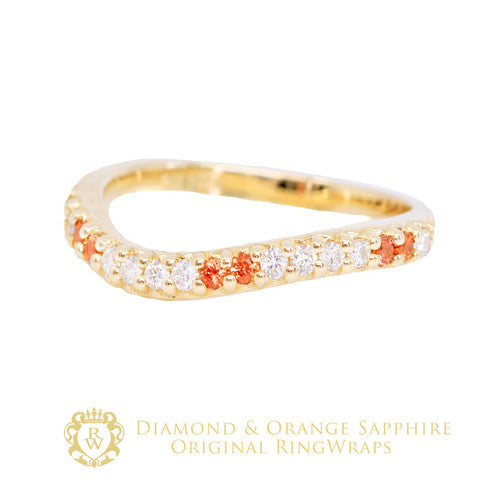 Diamond & Orange Sapphire Enhancer