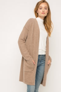 Mauve Open Cardigan