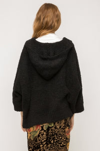 Black Hooded Poncho