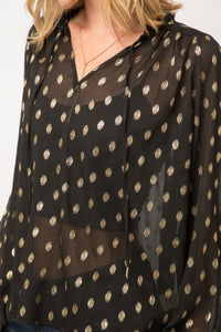 Gold Dot Blouse