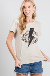 Bolt Graphic Top