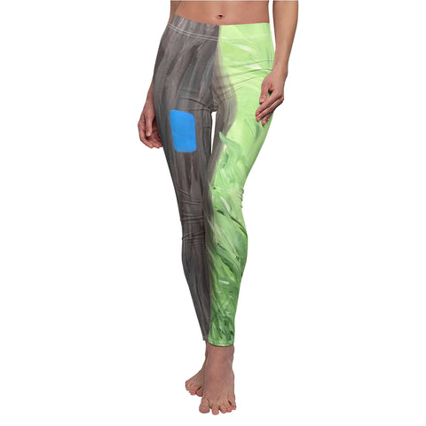 "Women's Leggings - ""Blue Blaze"""