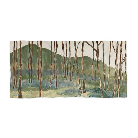 "Beach Towel - ""Wintergreen Woods"""