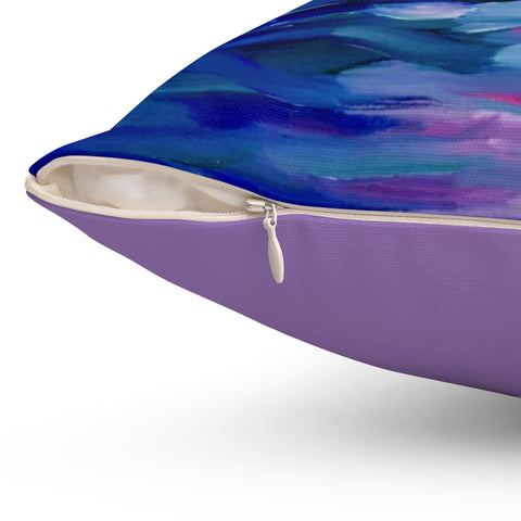 "Spun Polyester Square Pillow - ""Sunset Two"" in Lilac"